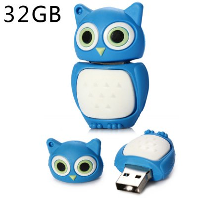 32GB USB 2.0 Flash Memory Drive Owl TypeUSB Flash Drives<br>32GB USB 2.0 Flash Memory Drive Owl Type<br><br>Available Color: Black,Blue,Brown,Water Red<br>Capacity: 32G<br>Features: Cartoon<br>Interface: USB 2.0<br>Package Contents: 1 x 32GB USB 2.0 Flash Memory Drive Owl Type<br>Package size (L x W x H): 6.20 x 4.70 x 2.60 cm / 2.44 x 1.85 x 1.02 inches<br>Package weight: 0.0620 kg<br>Product size (L x W x H): 4.20 x 2.70 x 1.60 cm / 1.65 x 1.06 x 0.63 inches<br>Product weight: 0.0120 kg<br>Style: Cartoon<br>Type: USB Stick