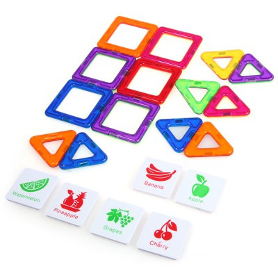 DIGE Intelligent Magnetic Block for 20pcs / SetLogic &amp; Puzzle Toys<br>DIGE Intelligent Magnetic Block for 20pcs / Set<br><br>Gender: Unisex<br>Materials: Magnetic<br>Package Contents: 6 x Square Magnetic Sheet, 8 x Triangle Magnetic Sheet, 6 x Intelligent Sheet<br>Package size: 23.00 x 7.00 x 24.00 cm / 9.06 x 2.76 x 9.45 inches<br>Package weight: 0.5000 kg<br>Suitable Age: Kid<br>Theme: Buildings<br>Type: Building