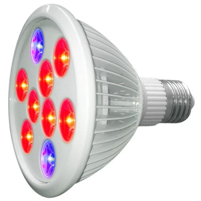 9W E27 LED Plant Glow Light Lamp Bulb Spotlight for Growth ChamberGrow Lights<br>9W E27 LED Plant Glow Light Lamp Bulb Spotlight for Growth Chamber<br><br>Available Light Color: Red,Blue<br>CCT/Wavelength: 460-470nm,620-630nm<br>Features: Long Life Expectancy, Low Power Consumption<br>Function: Horticultural Illumination<br>Holder: E27<br>Lifespan: 50000h<br>Output Power: 9W<br>Package Contents: 1 x LED Grow Light<br>Package size (L x W x H): 14.5 x 13 x 13 cm / 5.70 x 5.11 x 5.11 inches<br>Package weight: 0.270 kg<br>Product size (L x W x H): 13.5 x 12 x 12 cm / 5.31 x 4.72 x 4.72 inches<br>Product weight: 0.210 kg<br>Sheathing Material: Iron, Plastic<br>Total Emitters: 9<br>Type: Grow Light<br>Voltage (V): AC 85-264V