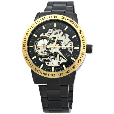 Jijia U8010 Men Automatic Mechanical Wristwatch Hollow-out WatchMens Watches<br>Jijia U8010 Men Automatic Mechanical Wristwatch Hollow-out Watch<br><br>Available Color: Gold,Silver<br>Band material: Stainless Steel<br>Brand: Jijia<br>Case material: Stainless Steel<br>Clasp type: Folding clasp with safety<br>Display type: Analog<br>Movement type: Automatic mechanical watch<br>Package Contents: 1 x Jijia U8010 Automatic Mechanical Watch<br>Package size (L x W x H): 21 x 5.2 x 2.7 cm / 8.25 x 2.04 x 1.06 inches<br>Package weight: 0.163 kg<br>Product size (L x W x H): 20 x 4.2 x 1.7 cm / 7.86 x 1.65 x 0.67 inches<br>Product weight: 0.113 kg<br>Shape of the dial: Round<br>Style elements: Hollow Out<br>The band width: 1.8 cm / 0.71inches<br>The dial diameter: 4.2 cm / .65 inches<br>The dial thickness: 1.7 cm / 0.67 inches<br>Watch style: Business<br>Watches categories: Male table