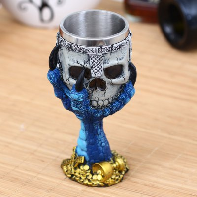 Vintage Dragon Claw Skull Style GobletWater Cup &amp; Bottle<br>Vintage Dragon Claw Skull Style Goblet<br><br>Color: Red,Blue,Green<br>Material: ABS, Stainless Steel<br>Package Contents: 1 x Goblet<br>Package size (L x W x H): 21 x 11 x 10.1 cm / 8.25 x 4.32 x 3.97 inches<br>Package weight: 0.643 kg<br>Product size (L x W x H): 17.8 x 7.1 x 7.1 cm / 7.00 x 2.79 x 2.79 inches<br>Product weight: 0.543 kg<br>Suitable for: Party, KTV, Bar, Home