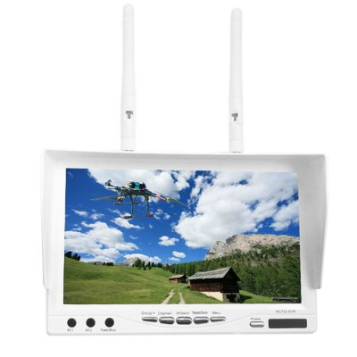 RC732 - DVR FPV 7 Inch 32CH FPV Monitor Built-in 5.8GHz Receiver 800 x 480 TFT LCD Screen with DVRFPV Goggles &amp; Monitors<br>RC732 - DVR FPV 7 Inch 32CH FPV Monitor Built-in 5.8GHz Receiver 800 x 480 TFT LCD Screen with DVR<br><br>Camera Gimbals: Brushless Gimbals<br>FPV Equipments: FPV Monitor<br>Package Contents: 1 x Monitor, 1 x Charger, 2 x 5.8G Antenna, 1 x USB Cable, 1 x DC Cable, 2 x AV Cable, 1 x Sunshine Cover, 1 x English Manual<br>Package size (L x W x H): 23 x 23 x 9 cm / 9.04 x 9.04 x 3.54 inches<br>Package weight: 0.95 kg