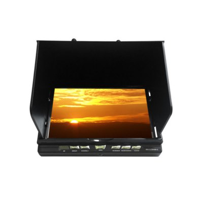 RX - LCD5812 FPV 7 Inch 40CH FPV Monitor Built-in 5.8GHz Receiver 1024 x 600 LCD ScreenFPV Goggles &amp; Monitors<br>RX - LCD5812 FPV 7 Inch 40CH FPV Monitor Built-in 5.8GHz Receiver 1024 x 600 LCD Screen<br><br>Camera Gimbals: Brushless Gimbals<br>FPV Equipments: FPV Monitor<br>Package Contents: 1 x Monitor, 1 x Charging Cable, 1 x Charger Adapter, 2 x 5.8G Antenna, 2 x AV Cable<br>Package size (L x W x H): 22.00 x 17.00 x 8.00 cm / 8.66 x 6.69 x 3.15 inches<br>Package weight: 1.150 kg