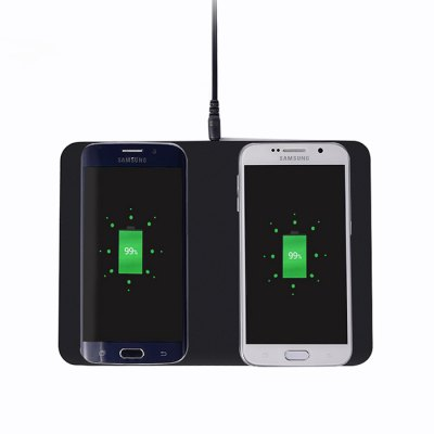 Itian Qi Wireless Charger Transmitter Adapter 2PCSChargers &amp; Cables<br>Itian Qi Wireless Charger Transmitter Adapter 2PCS<br><br>Brand: Itian<br>Charging current: 500 - 1000mAh<br>Color: Black<br>Connection Type: Micro USB<br>Input: 5V / 3A<br>Mainly Compatible with: Universal<br>Material: ABS, PC<br>Output: 5V 1000mA<br>Package Contents: 1 x Wireless Charger, 1 x Power Adapter, 1 x English Manual<br>Package size (L x W x H): 22.10 x 25.10 x 3.20 cm / 8.7 x 9.88 x 1.26 inches<br>Package weight: 0.3950 kg<br>Power: 5W<br>Product size (L x W x H): 14.40 x 20.00 x 0.95 cm / 5.67 x 7.87 x 0.37 inches<br>Product weight: 0.1650 kg<br>Type: Wireless Charger Launcher<br>Wireless transmission distance: 5mm
