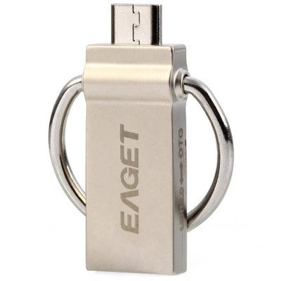 Eaget 2 in 1 16 / 32 / 64GB OTG USB 3.0 Flash DriveUSB Flash Drives<br>Eaget 2 in 1 16 / 32 / 64GB OTG USB 3.0 Flash Drive<br><br>Available Color: Gold,Silver<br>Brand: EAGET<br>Capacity: 32G<br>Certificate: CE,FCC,RoHs<br>Compatible with: Smartphones<br>Features: Metal, Shockproof, Waterproof<br>Interface: USB 3.0<br>Max. Read Speed: 140MB/s<br>Package Contents: 1 x Eaget 2 in 1 OTG USB 3.0 Flash Drive<br>Package size (L x W x H): 11.30 x 10.00 x 1.60 cm / 4.45 x 3.94 x 0.63 inches<br>Package weight: 0.066 kg<br>Product size (L x W x H): 3.60 x 1.40 x 0.65 cm / 1.42 x 0.55 x 0.26 inches<br>Product weight: 0.007 kg<br>Style: Stylish<br>Transmission Speed: 5GB/s<br>Type: USB Stick