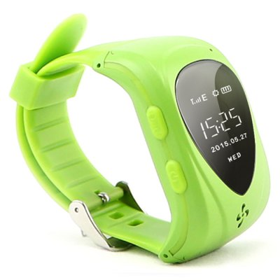 T18 Tracker Kid Smart WatchSmart Watch Phone<br>T18 Tracker Kid Smart Watch<br><br>Additional Features: People<br>Battery: 400mAh?Non-removable?<br>Camera type: No camera<br>Cell Phone: 1<br>Charger: 1<br>External Memory: Not Supported<br>Frequency: GSM850/900/1800/1900MHz<br>GPS: Yes<br>Languages: English, Simplified Chinese, Portuguese, Spanish, German, Vietnamese, Turkish, Russian, French<br>Network type: GSM<br>Package size: 12.00 x 7.50 x 6.60 cm / 4.72 x 2.95 x 2.6 inches<br>Package weight: 0.200 kg<br>Product size: 5.40 x 3.30 x 1.30 cm / 2.13 x 1.3 x 0.51 inches<br>Product weight: 0.039 kg<br>Screwdriver: 1<br>SIM Card Slot: Single SIM<br>Type: Watch Phone<br>Wireless Connectivity: GPS
