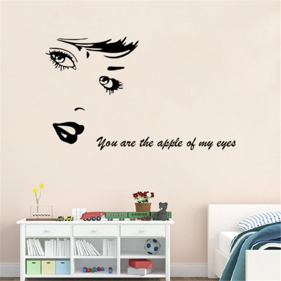 Character Head Portrait Style Wall Stickers