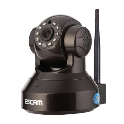 ESCAM Pearl QF100 IR Night Vision Pan / Tilt Wireless Security IP Camera 720P Hisilicon 3518E  Chipset P2P Cloud Storage Support 32GB Micro SD Card (UK Plug)