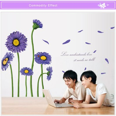 Sunflower Style Removable Wall Stickers