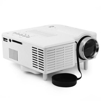 UC - 40 400 Lumens Two Colors Portable Home Mini LED Projector Support AV/SD/VGA/HDMIprojectors<br>UC - 40 400 Lumens Two Colors Portable Home Mini LED Projector Support AV/SD/VGA/HDMI<br><br>Brightness: 400 Lumens<br>Color: Black,White<br>Contrast Ratio: 300:1<br>Display type: LCD<br>Image Size: 20 - 120 inch<br>Interface: AV<br>Lamp: LED<br>Material: Glass, Plastic<br>Model: UC-40<br>Native Resolution: 480 x 320<br>Package Contents: 1 x Projector, 1 x Remote Control, 1 x Power Adapter, 1 x 3-in-1 AV Cable, 1 x User<br>Package size (L x W x H): 23.20 x 16.90 x 10.20 cm / 9.13 x 6.65 x 4.02 inches<br>Package weight: 0.7550 kg<br>Power Supply: 12V<br>Product size (L x W x H): 12.70 x 12.60 x 5.60 cm / 5 x 4.96 x 2.2 inches<br>Product weight: 0.3860 kg<br>Projection Distance: 1 - 3.8 m