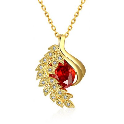 N130 - A Zircon Necklace Fashion Jewelry 24K Gold Plating Necklace