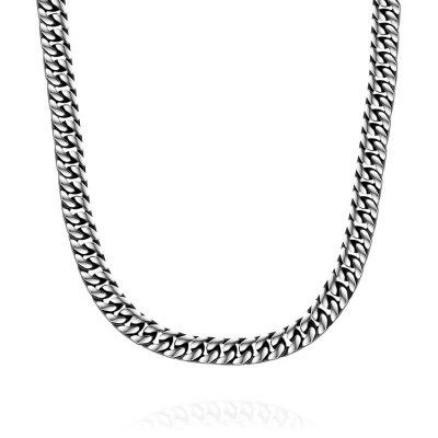 N055 Titanium Plated Chain 316L Stainless Steel Vintage Pendant Necklace