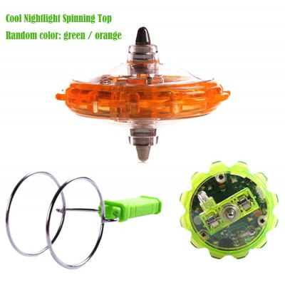 Cool Spinning Top Rolling Gyro with Rail Twirler Set Classic Toy Break-resistant