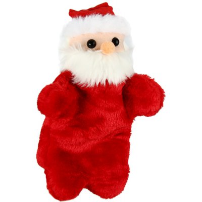 7.5 inch Santa Claus Hand Puppet Plush Toy Stuffed Doll Christmas Gift for Children
