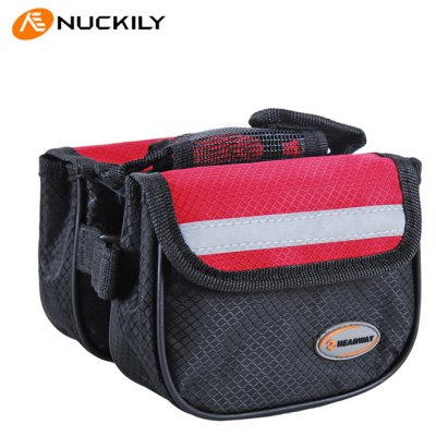 NUCKILY Bicycle Front Tube Saddle Bag for Cycling