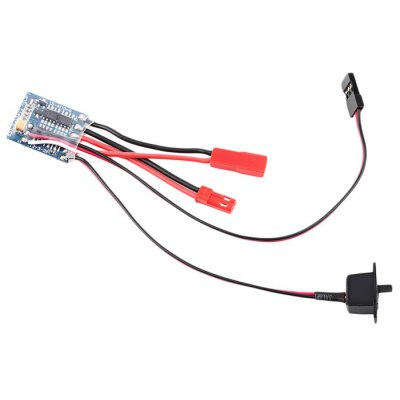 10A Brushed ESC with Brake Function for 1 / 16 1 / 24 Scale Remote Control Car Boat Model Toy