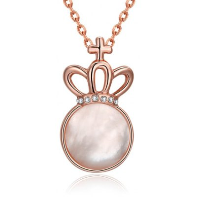 N923-B Rose Gold Plated Geometric Pattern Necklace