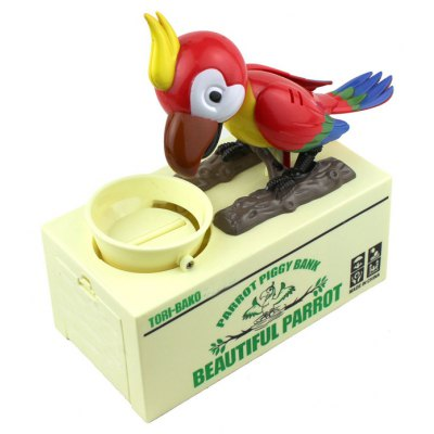 Electronic Parrot Style Coin Bank Money Saving Box for Children