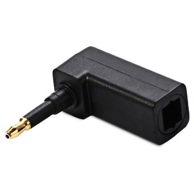 90 Degree Digital Optical Audio Cable Adapter Female Square to Male Round