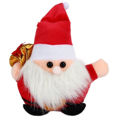 7 inch Santa Claus Suction Plush Doll Christmas Ornament Present