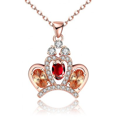 N117 - B Zircon Necklace Fashion Jewelry Rose Gold Plating Necklace
