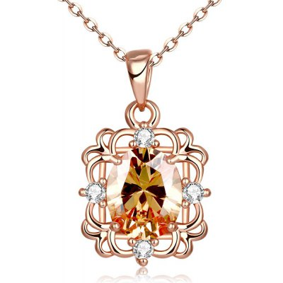 N123-B Zircon Necklace Fashion Jewelry Rose Gold Plating Necklace