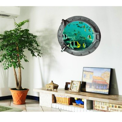 Underwater World Fish 3D Stickers for Walls