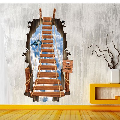 3D Stairs Design Removable PVC Wall Stickers