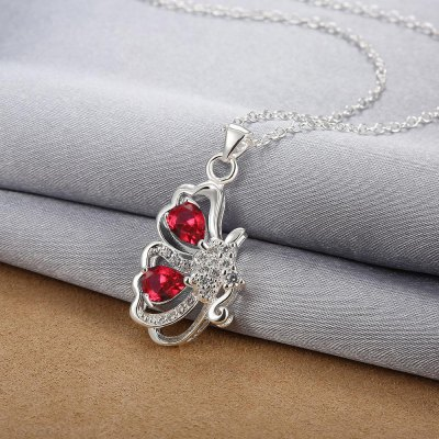 N123-B 925 Silver Plated Necklace Brand New Design Pendant Necklaces Jewelry for Women