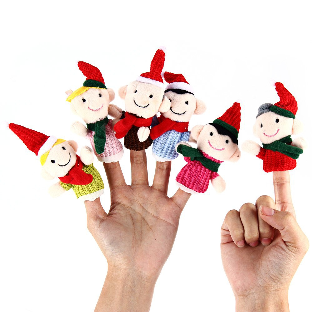 6PCS Family Finger Puppets Story Toy