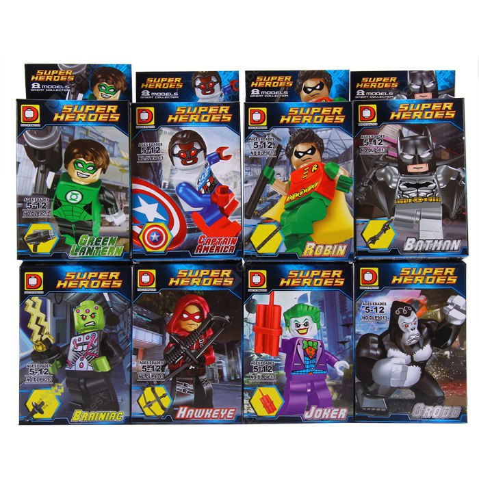 DUOLEPIN TOYS DLP9013 Building Block Super Heroes 1/ Set COLORMIX