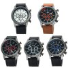 V6 V0271 Big Dial Leather Band Male Quartz Watch photo