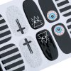 12pcs / Package Harajuku Stylish Stickers France Style Nail Art Decorations Tools deal