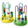 cheap 1 Piece Educational Game Baby Wooden Toy Around Beads