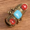 Vintage Faux Gemstone Decorated Knuckle Ring For Women photo