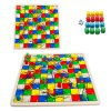 QZM 2 in 1 Flight Chess Snake and Ladder Classic Chess Game Toy for Improving Creativity photo