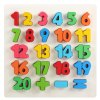 23Pcs QZM Colorful Counting Number Wooden Learning Board Puzzle Interactive Toy