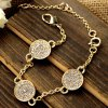Graceful Rhinestoned Round Link-Chain Bracelet For Women deal