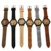 FEIFAN Big Number 8 Male Quartz Watch with Leather Band photo