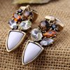 Pair of Noble Faux Crystal Artificial Gemstone Irregular Earrings For Women deal