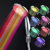 Chic Muti-Color Changing LED Light Round Head Handheld Shower Head