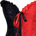 Chic Strapless Color Block Lace-Up Women's Corset deal