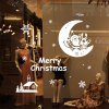 cheap Christmas Santa Claus and Moon Style Wall Stickers