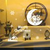 Christmas Santa Claus and Moon Style Wall Stickers