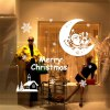 Christmas Santa Claus and Moon Style Wall Stickers photo