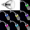 Chic LED Light 7 Colors Changing Glow Round Head Shower Head