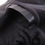 Stand Collar Solid Color Multi-Pocket Long Sleeve Men's PU-Leather Jacket photo