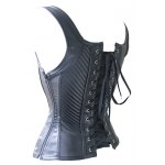 Stylish Spaghetti Strap Faux Leather Stud Embellished Corset For Women deal
