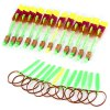 12pcs Arrow Helicopter Elastic Rocket Toy with Blue LED Light for Children Outdoor Playing