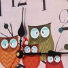 Owl Style Wooden Wall Clock deal